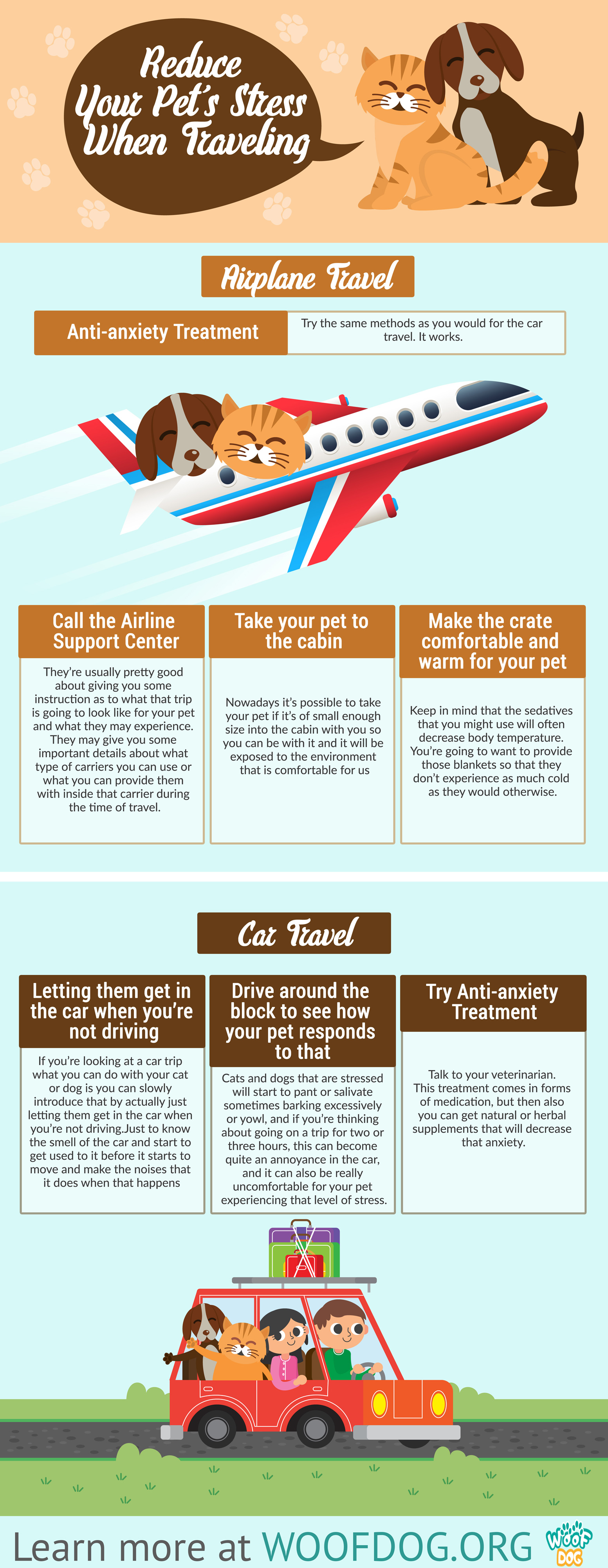 Traveling With Your Pets Infographic