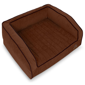 Image of Brown Buddy Rest Crown Supreme Orthopedic Dog Bed