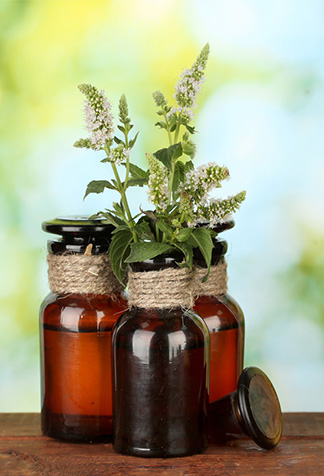Three bottles of Essential oil