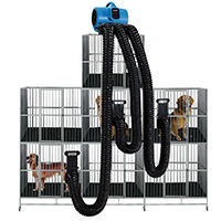Image of Multi Drying Kit with dog in cages