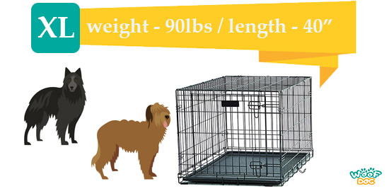 illustration of XL kennels for medium to large breeds