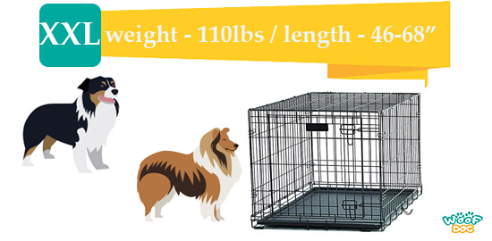 a photo of XXL size pet crate for larger breeds