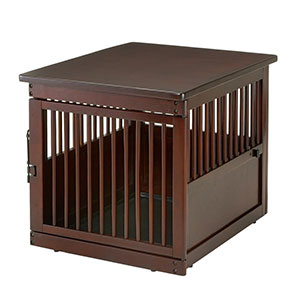 Richell Wooden Dark Brown Dogs Crate