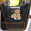 Goldie lying in a Car Seat Cover