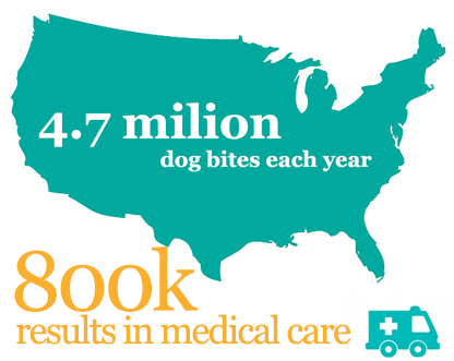 illustration of dog bite statistics in U.S.